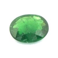 Ярко-зелёный гранат цаворит формы овал, вес 0.66 карат, размер 6.6х5.2мм (tsav0021)