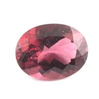 Тёмно-розовый турмалин рубеллит овал вес 3.81 карат, размер 11.9х9.1мм (turm0112)