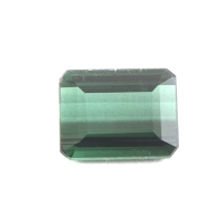 Ярко-зелёный турмалин октагон вес 1.38 карат, размер 7.7х5.8мм (turm0123)