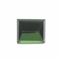Тёмно-зелёный турмалин верделит багет вес 1.74 карат, размер 7.8х6.7мм (turm0137)