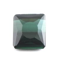 Тёмный голубовато-зелёный турмалин октагон вес 3.85 карат, размер 9.8х8.9мм (turm0138)