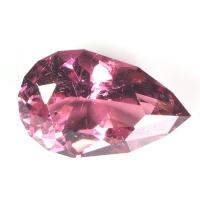 Розовый турмалин груша вес 2.97 карат, размер 12.66х7.97мм (turm0181)