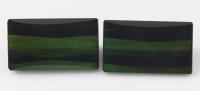 Пара тёмно-зелёных турмалинов верделитов формы багет общим весом 11.45 карат, размер 14х8мм (turm0201)