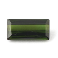 Зелёный турмалин верделит багет вес 2.85 карат, размер 12.2х6.1мм (turm0202)