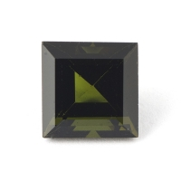 Желтовато-зелёный турмалин верделит квадрат вес 3.79 карат, размер 8.9х8.8мм (turm0204)