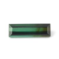 Полихромный голубовато-зелёный турмалин багет вес 2.38 карат, размер 14.6х4.5мм (turm0211)