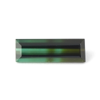 Полихромный голубовато-зелёный турмалин багет вес 2.42 карат, размер 14.4х4.8мм (turm0212)