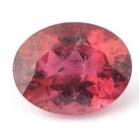 Ярко-розовый турмалин рубеллит овал вес 2.14 карат, размер 9.65х7.5мм (turm0223)