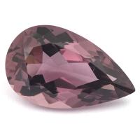 Сливово-розовый турмалин сибирит груша вес 9.99 карат, размер 19.3х11.7мм (turm0248)