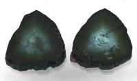 Пара спилов кристалла полихромного турмалина, общий вес 5.85 карат, размер 11х10мм (turm0255)