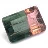 Полихромный (арбузный) турмалин октагон вес 3.13 карат, размер 11.3х7.6мм (turm0266)