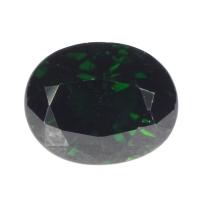 Тёмно-зелёный хромтурмалин овал вес 1.36 карат, размер 7.1х5.8мм (turm0268)