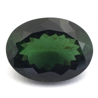 Зелёный турмалин верделит овал вес 11.44 карат, размер 17х12.7мм (turm0271)