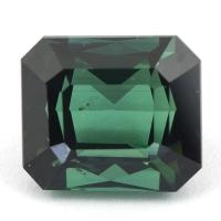 Синевато-зелёный турмалин хорошей огранки, форма октагон, вес 6.29 карат, размер 11х9.5мм (turm0272)