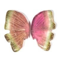 Пара резных полихромных турмалинов Бабочка, общий вес 11.6 карат, размер 17х10.2мм (turm0274)