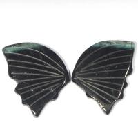Пара резных полихромных турмалинов Бабочка, общий вес 9.69 карат, размер 16.5х12мм (turm0276)