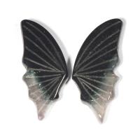 Пара резных полихромных турмалинов Бабочка, общий вес 10.06 карат, размер 19.4х8.5мм (turm0277)