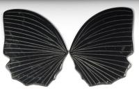 Пара резных чёрных турмалинов Бабочка, общий вес 42.33 карат, размер 35х25мм (turm0282)