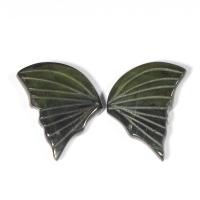 Пара резных полихромных турмалинов Бабочка, общий вес 5.08 карат, размер 12х8мм (turm0284)