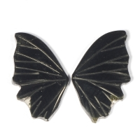 Пара резных полихромных турмалинов Бабочка, общий вес 5.1 карат, размер 15.4х8.5мм (turm0286)