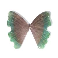 Пара резных полихромных турмалинов Бабочка, общий вес 4.58 карат, размер 14.1х8.2мм (turm0303)