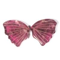 Пара резных малиновых турмалинов Бабочка, общий вес 6.46 карат, размер 10.9х8.7мм (turm0304)
