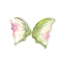 Пара резных полихромных турмалинов Бабочка, общий вес 1.02 карат, размер 7х4.5мм (turm0306)