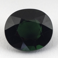 Тёмно-зелёный турмалин формы овал, вес 3.66 карат, размер 10.8х9.5мм (turm0309)