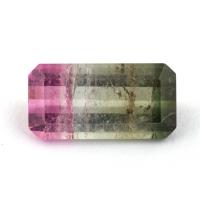 Полихромный (арбузный) турмалин формы октагон, вес 4.03 карат, размер 13.4х6.9мм (turm0326)