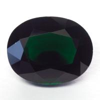 Тёмно-зелёный хромтурмалин овал вес 2.24 карат, размер 10х7.9мм (turm0331)
