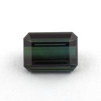 Голубовато-зеленый турмалин формы октагон, вес 1.75 карат, размер 7.5х5.5мм (turm0336)