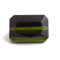 Темно-зеленый турмалин формы октагон, вес 1.67 карат, размер 8.1х5.6мм (turm0343)