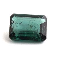 Голубовато-зеленый турмалин формы октагон, вес 1.43 карат, размер 8.1х5.9мм (turm0344)