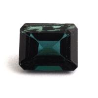 Синевато-зеленый турмалин формы октагон, вес 1.31 карат, размер 7.4х6мм (turm0345)