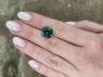 Голубовато-зеленый турмалин отличной российской огранки  антик, вес 8.13 карат, размер 12.4х11мм (turm0364)