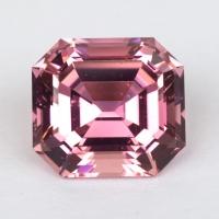Розовый турмалин отличной российской огранки октагон, вес 5.75 карат, размер 11х10.1мм (turm0365)
