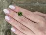 Салатово-зеленый турмалин отличной российской огранки октагон, вес 3.8 карат, размер 9.2х9.1мм (turm0368)