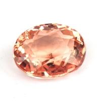 Персиково-розовый турмалин овал, вес 2.58 карат, размер 9.2х7.3мм (turm0375)
