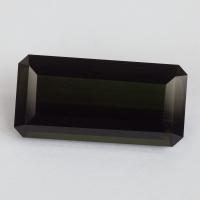 Темно-зеленый турмалин октагон, вес 9.45 карат, размер 19.7х9.2мм (turm0381)