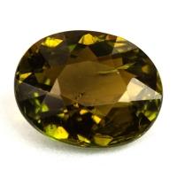 Желто-зеленый турмалин овал, вес 2.92 карат, размер 9.9х7.9мм (turm0389)