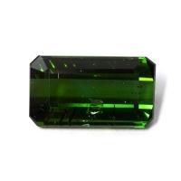 Темно-зеленый турмалин октагон, вес 5.58 карат, размер 14.1х8мм (turm0397)