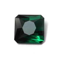 Темный сине-зеленый турмалин отличной огранки октагон, вес 3.12 карат, размер 8.5х8.5мм (turm0411)