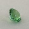 Салатово-зеленый турмалин отличной российской огранки формы круг, вес 1.24 карат, размер 6.75х6.75мм (turm0430)
