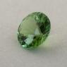Салатово-зеленый турмалин отличной российской огранки формы круг, вес 1.34 карат, размер 7.3х7.3мм (turm0437)