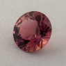Коричневато-розовый турмалин отличной российской огранки формы круг, вес 1.18 карат, размер 6.9х6.9мм (turm0450)