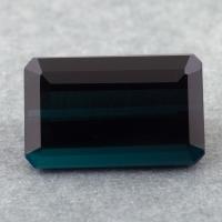Темный зеленовато-синий турмалин индиголит октагон, вес 5.44 карат, размер 13.1х8.2мм (turm0461)