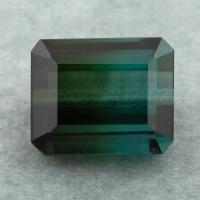 Сине-зеленый полихромный турмалин октагон, вес 9.68 карат, размер 12.38х10.11мм (turm0493)