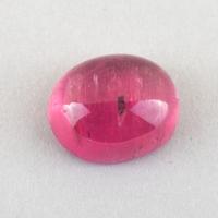 Ярко-розовый турмалин рубеллит кабошон овал, вес 2.18 карат, размер 8.5х7мм (turm0502)