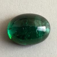 Голубовато-зелёный турмалин кабошон овал, вес 8.15 карат, размер 13.8х10.2мм (turm0537)