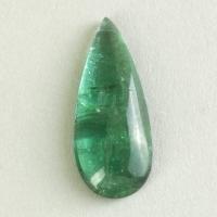 Зелёный турмалин кабошон груша, вес 3 карат, размер 17.4х7.2мм (turm0544)